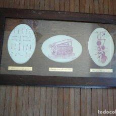 Antigüedades: LÁMINA ENMARCADA 1 DE ANTIGUOS UTENSILIOS DE FARMACIA Y MEDICINA.. Lote 126875811