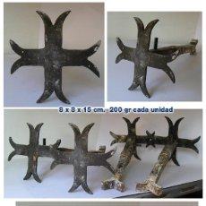 Antigüedades: LOTE DE 4 CLAVOS DE PARED ANTIGUOS - CRUZ PATÉ, PATADA, 8 PUNTAS, TEMPLARIOS, CÁTAROS. Lote 126918639