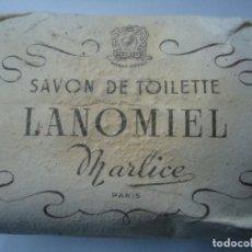 Antigüedades: 1 JABÓN DE LOS AÑOS 40 LANOMIEL MARLICE PARIS 1940. Lote 126968099