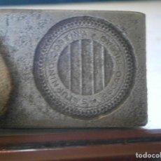 Antigüedades: ¡¡PRECIOSA ¡¡ ANTIGUA PLANCHA DE IMPRENTA AÑOS 20-30 BILBAO ,SATURDINO CORTINA. Lote 126975099