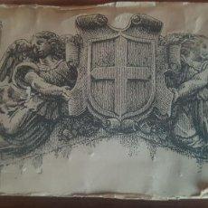 Antigüedades: PLACA PLANCHA TAMPÓN DE IMPRENTA.GRABADOS.. Lote 126909759