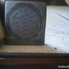 Antigüedades: ¡¡PRECIOSA ¡¡ ANTIGUA PLANCHA DE IMPRENTA AÑOS 20-30 SOPA GLORIA. Lote 126984939