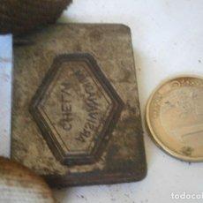 Antigüedades: ¡¡PRECIOSA ¡¡ ANTIGUA PLANCHA DE IMPRENTA AÑOS 20-30 ARSIVANADIUM CHELVI. Lote 126985159