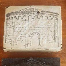 Antigüedades: PLACA PLANCHA TAMPÓN DE IMPRENTA.GRABADOS.. Lote 126989723