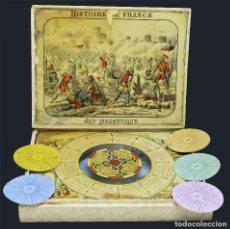 Antigüedades: 1880CA - JUEGO MAGNÉTICO FRANCÉS - EN CRISTAL - EN FUNCIONAMIENTO - COMPLETO CON INSTRUCCIONES. Lote 127140823