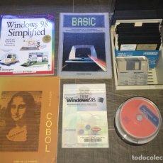 Antigüedades: LOTE INFORMÁTICO ANTIGUO , COBOL, MS DOS, DISCOS FLEXIBLES, WINDOWS 98.... Lote 127148211