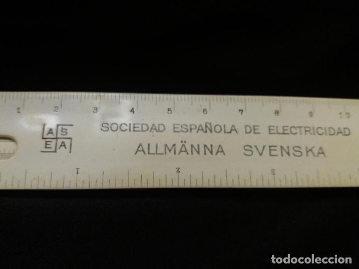 Antigüedades: Antigua regla de calculo de la Sociedad Española de Electricidad. Esvastica nazi - Foto 3 - 127183079