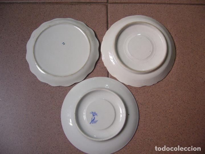 Antigüedades: LOTE DE 3 PLATOS PEQUEÑOS - Foto 2 - 127227907