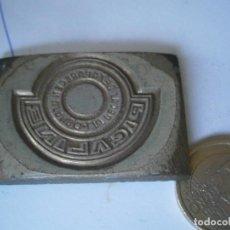 Antigüedades: ¡¡MOLDE DE IMPRENTA UNICO AÑOS 20,30',DE PUBLICIDAD¡¡PICALINE¡¡. Lote 127253003