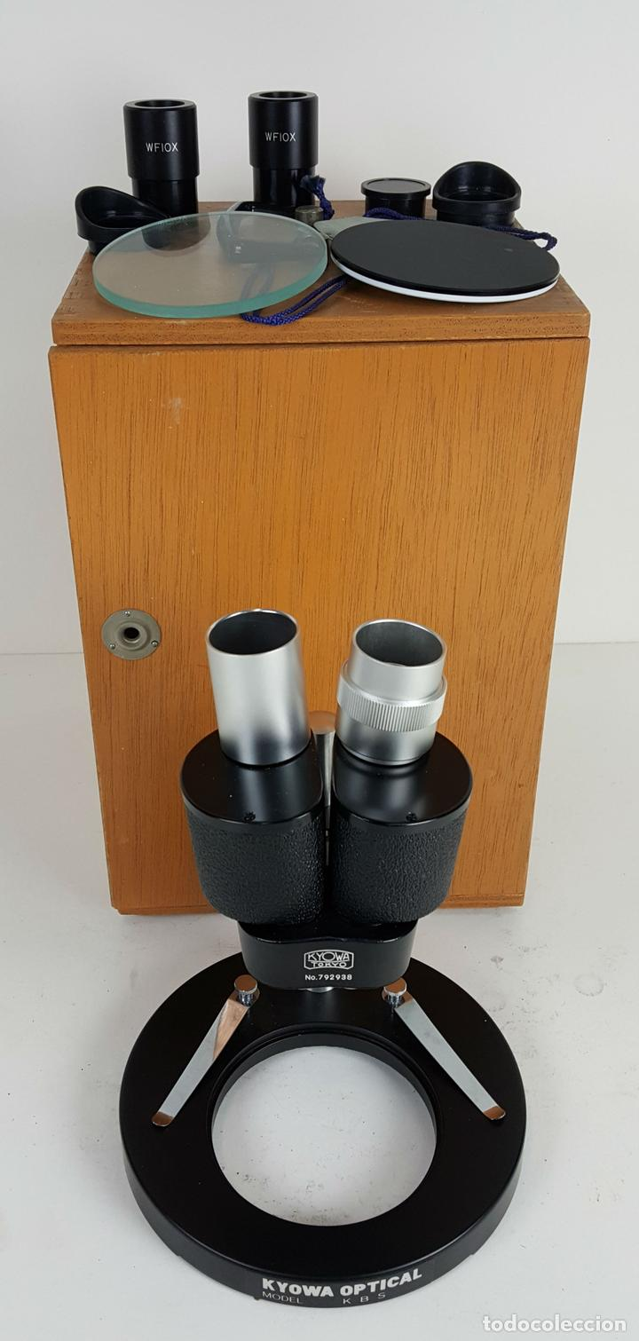 MICROSCÓPIO DE LABORATORIO. KYOWA MODELO KBS. TOKYO JAPON. 1979. (Antigüedades - Técnicas - Instrumentos Ópticos - Microscopios Antiguos)