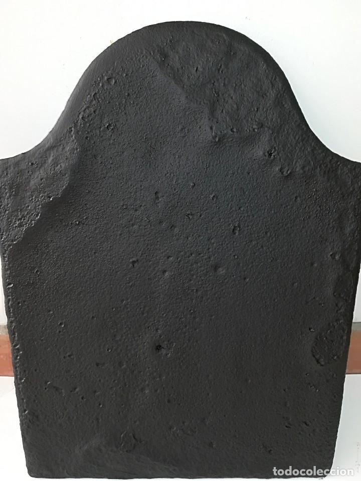 Antigüedades: Placa chimenea hierro fundido antigua - Foto 5 - 127411059