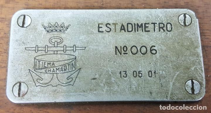 Antigüedades: ESTADIMETRO NAVAL MODELO 006. LTIEMA. CHAMARTIN. CIRCA 1940. - Foto 11 - 127417499
