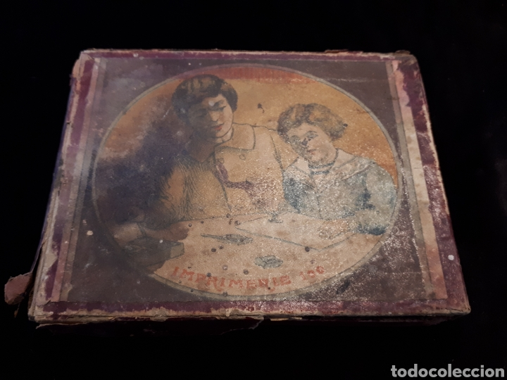 IMPREMIERIE 100. CAJA IMPRENTILLA. 1849 GRANDS PRIX 1900 MUESTRA. 10X8 CM. (Antigüedades - Técnicas - Máquinas de Escribir Antiguas - Otras)