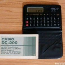 Antigüedades: CALCULADORA Y .... CASIO DC 200. DATA CAL 50.. Lote 127503714