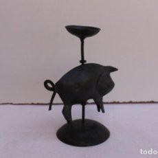 Antigüedades: PORTAVELAS DE FORJA. Lote 127569143
