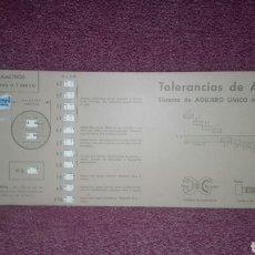 Oggetti Antichi: REGLILLA CALCULADORA N°7 TOLERANCIAS DE AJUSTE ISA EDITORIAL VAGMA SISTEMA DE AGUJERO UNICO H 11. Lote 127586054