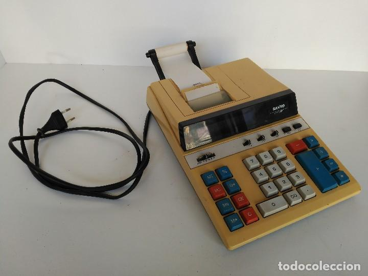 CALCULADORA ELECTRONICA VINTAGE SANYO CY-6200DP (Antigüedades - Técnicas - Aparatos de Cálculo - Calculadoras Antiguas)