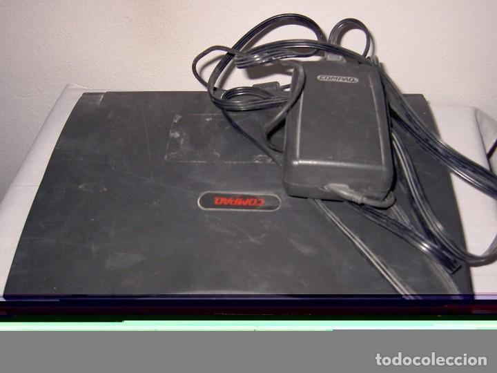 Antigüedades: lote variado retroinformatica portatil compaq contura material informatico - Foto 6 - 127612115