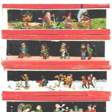 Antigüedades: 146-SERIE 6 PLACAS EN VIDRIO CON FOTOGRAMAS PARA VER CINE EN LINTERNA MÁGICA,FABRICADAS EN ALEMANIA. Lote 127652947
