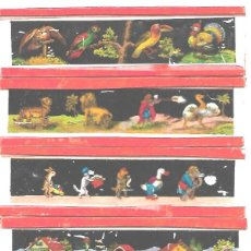 Antigüedades: 148-SERIE 6 PLACAS EN VIDRIO CON FOTOGRAMAS PARA VER CINE EN LINTERNA MÁGICA,FABRICADAS EN ALEMANIA. Lote 127653099
