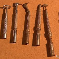 Antigüedades: HERRAMIENTA DENTISTA, TORNO, TALADRO, FRESAS, DISCOS DE CORTE, PROTECCIÓN DISCOS. Lote 180423782