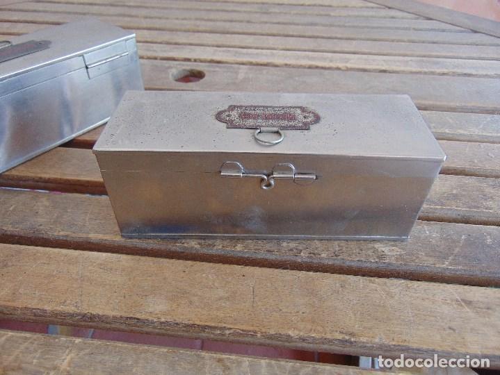 Antigüedades: LOTE DE 7 ANTIGUAS CAJAS EN METAL DE MEDICO DENTISTA O SIMILAR , MARCADAS DIFERENTES MEDIDAS - Foto 28 - 127749299