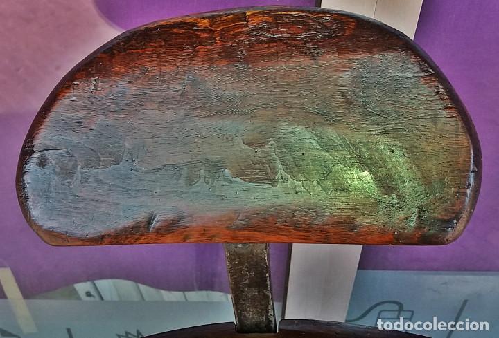 Antigüedades: SILLON BARBERIA FINALES S-XIX - MADERA CAOBA CUBANA - Foto 5 - 127752059