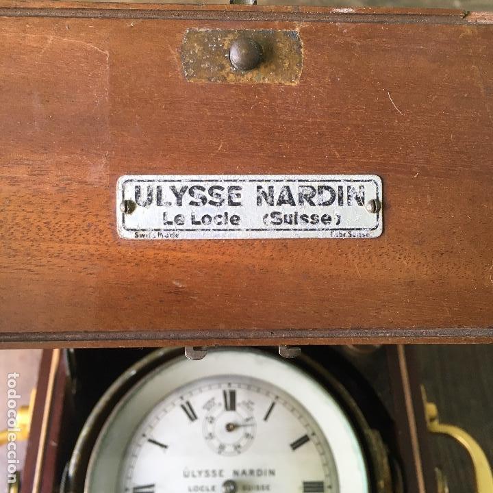 Antigüedades: Reloj nautico o cronometro marino marca ULYSSE NARDIN - Foto 3 - 127953623