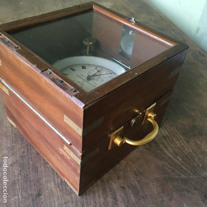Antigüedades: Reloj nautico o cronometro marino marca ULYSSE NARDIN - Foto 4 - 127953623