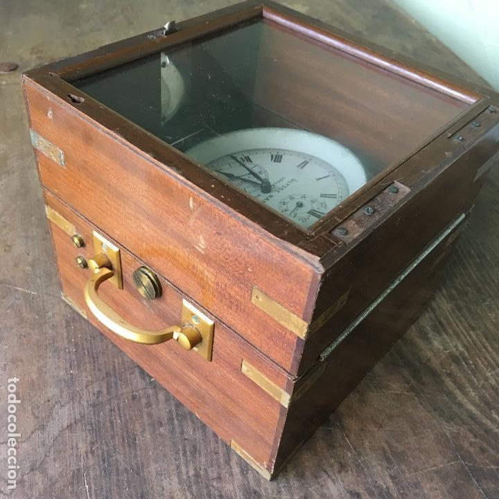 Antigüedades: Reloj nautico o cronometro marino marca ULYSSE NARDIN - Foto 5 - 127953623