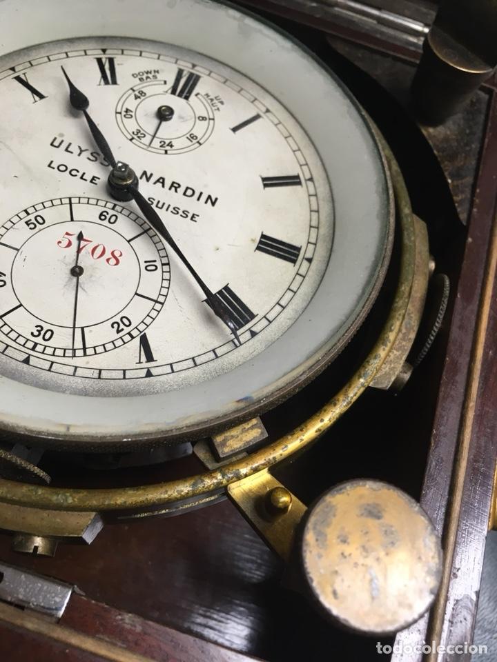 Antigüedades: Reloj nautico o cronometro marino marca ULYSSE NARDIN - Foto 9 - 127953623