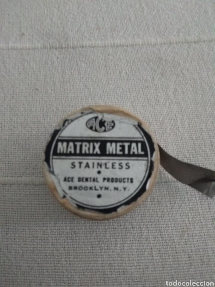 MATRIX METAL (Antigüedades - Técnicas - Herramientas Antiguas - Otras profesiones)