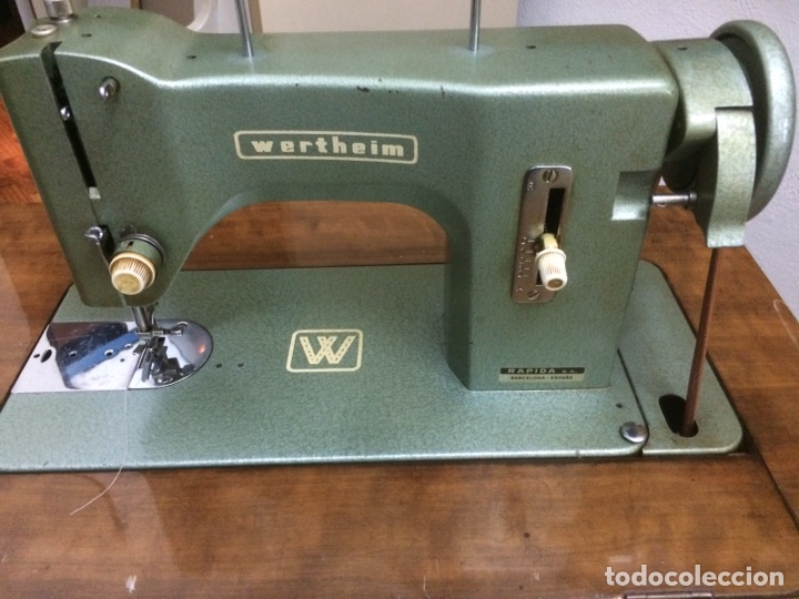 Antigüedades: Mueble maquina de coser Wertheim - Foto 2 - 128060746