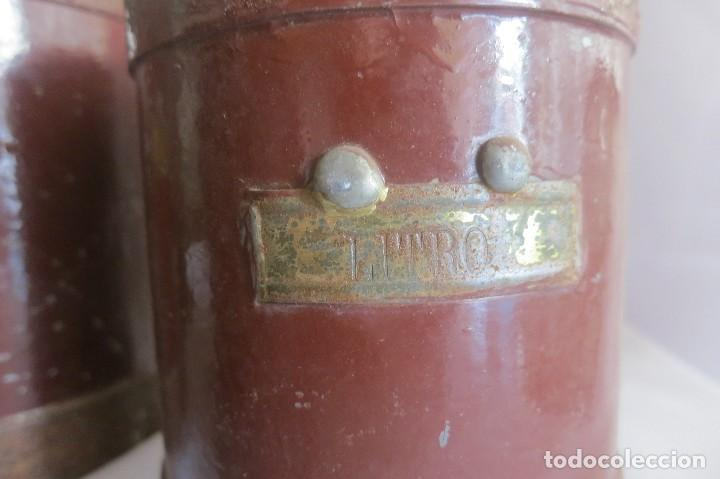 Antigüedades: juego de medidas de aridos anteriores a 1924 - Foto 4 - 128118259