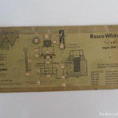 Antigüedades: REGLAS DE CALCULO DE CARTON VAGMA - ROSCAS WHITWORTH Y METRICA . Lote 128118759