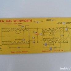 Antigüedades: REGLA CALCULO ROSCA DE GAS WITHWORTH Y CURVAS VAGMA . Lote 128118979