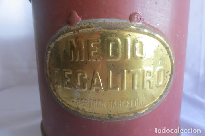 Antigüedades: medida de medio decalitro aridos 1924 5 litros - Foto 3 - 128119031