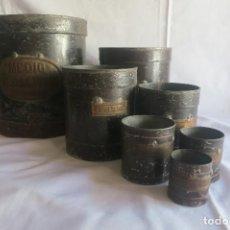 Antigüedades: MEDIDAS DE ARIDOS DE 1898. Lote 128127279