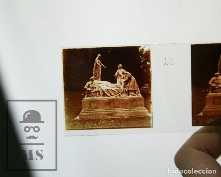 Antigüedades: Antiguo Visor Estereoscópico Francés con 10 Vistas Vidrio - Santuario de Lourdes -Ppios S XX - #CCB - Foto 12 - 128213243