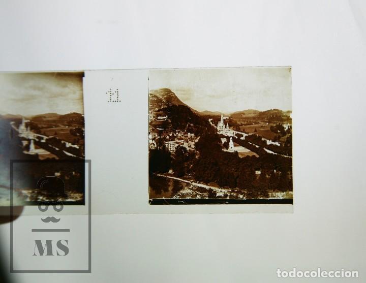 Antigüedades: Antiguo Visor Estereoscópico Francés con 10 Vistas Vidrio - Santuario de Lourdes -Ppios S XX - #CCB - Foto 13 - 128213243