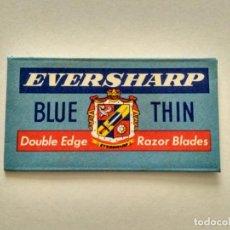 Antigüedades: HOJA DE AFEITAR. EVERSHARP BLUE THIN DOUBLE EDGE RAZOR BLADES. EVERSHARP INC. MADE IN USA.. Lote 128295439