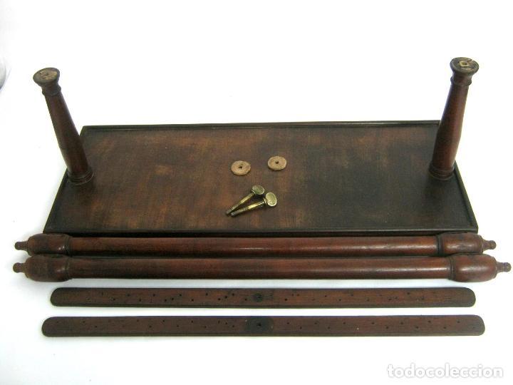 Antigüedades: S.XIX Bello Bastidor antiguo de lujo para bordar - madera de caoba - isabelino original - Foto 6 - 128328059