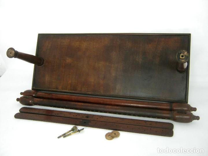Antigüedades: S.XIX Bello Bastidor antiguo de lujo para bordar - madera de caoba - isabelino original - Foto 7 - 128328059