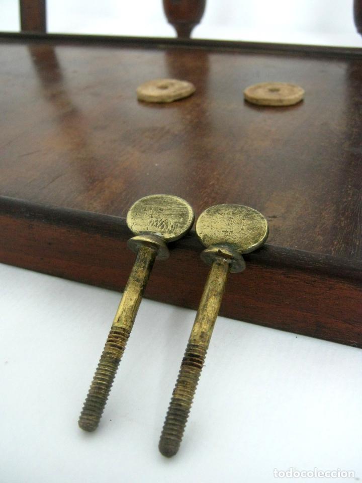 Antigüedades: S.XIX Bello Bastidor antiguo de lujo para bordar - madera de caoba - isabelino original - Foto 8 - 128328059