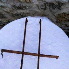 Antigüedades: REJA DE VENTANA CON 2 BARROTES DE 70 X 50 CMTS.. Lote 128364347