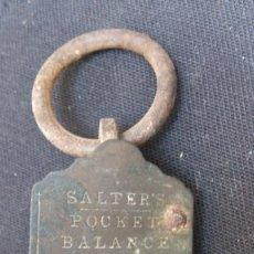Antigüedades: ANTUGUA BALANZA SALTER'S POCKET BALANCE. Lote 128384959