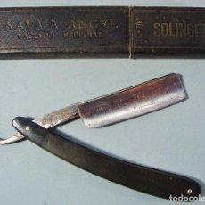 Antigüedades: ANTIGUA NAVAJA ANGEL DE SOLINGEN, EN SU CAJA ORIGINAL.. Lote 128419715