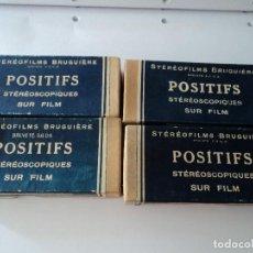Antigüedades: 4 CAJAS CON POSITIFS STEREOFILMS BRUGUIERE 12 DE PARIS, 13 DE VILLE DE PAU, 15 DE LOURDES, 6 VARIAS. Lote 128438767