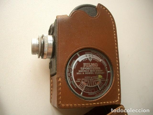 Antigüedades: CINE A CUERDA,1936..8mm...BELL&HOWELL FILMO SPORTSTER.MUY BUEN ESTADO FUNCIONA - Foto 2 - 128515879