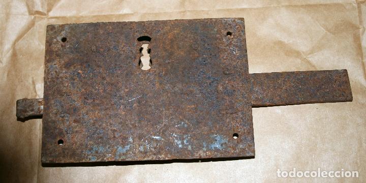 Antigüedades: Antigua cerradura de forja sin llave - Foto 4 - 128558671